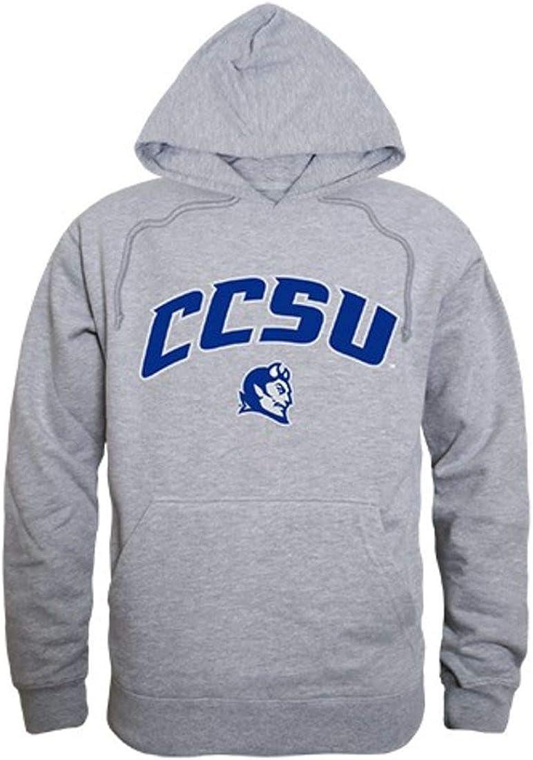 W Republic Apparel Central Connecticut State University Blue Devils Campus Hoodie Sweatshirt Heather Grey