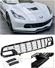 Extreme Online Store Replacement for 2014-2019 Chevrolet Corvette C7 All Models | EOS Factory Z06 Style Painted Carbon Flash Metallic Front Bumper Lower Grille Cover (Without Front Camera Bracket)