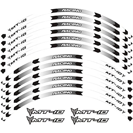 Felgenrandaufkleber Passend Für Yamaha Mt 10 Moto Gp Style Felgenaufkleber Motiv 1 Auto