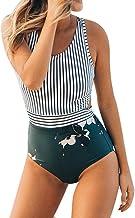 VECDY Bañador 2019 Moda Sexy Mujer Tallas Grandes Rayas con Cremallera Vendaje Bikini Mono Traje De Baño Ropa De Playa Ropa Interior