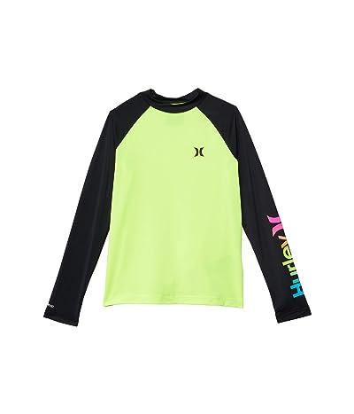 Hurley Kids UPF 50+ Dry Rashguard Shirt (Big Kids) (Volt) Boy