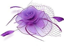 Bruids gaas hoed, kleur optioneel gaas hoed, gaas hoed hoge kwaliteit voor woonkamer bruiloften banketten feesten(purple)