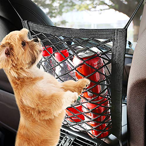 Etenli Car Dog Barrier Backseat, Premium Pet Dog Fences Car Seat Mesh Obstacle