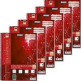 Stylex 43889-P6-6x Collegeblock, Spirale, kariert DIN A4, 80 Blatt, 60 g/m²