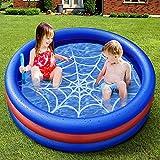 Piscine Gonflable Piscine pour Enfants, onozio Pataugeoire Kiddie Gonflable Piscine d'été sur l'eau Piscine pour Intérieur Extérieur (120x30cm)