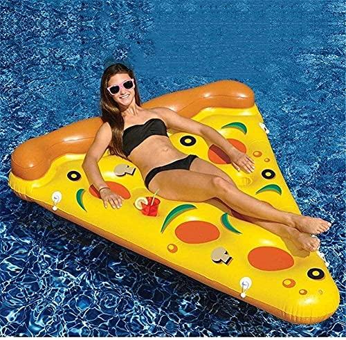 LGR Flotador de Piscina Fila Flotante Cama de Aire Flotadores de Agua PVC Agua Inflable Pizza Fila Flotante Deportes acuáticos para Adultos Inflable y navegación en Bote