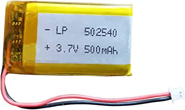 3.7v Lithium Ion Battery 500mAh - LP 502540 w/Plug Replacement for Sena SMH5 Motorcycles Bluetooth Headset - Intercom and More