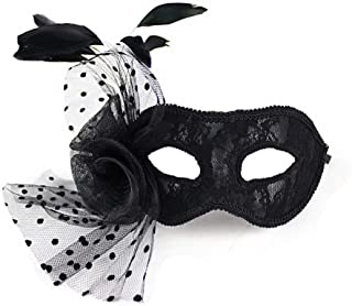 Best black venetian mask with feathers Reviews