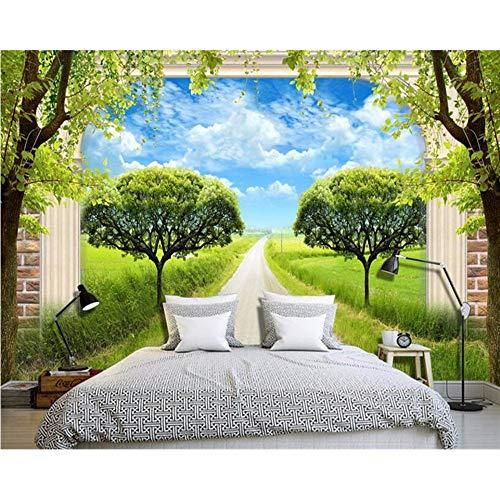 Lvabc Beibehang Tapety Home Meubelen Mode Decoratieve Schilderij Behang Groen Gras 3D Pip Tv Achtergrond Muur -200X140Cm