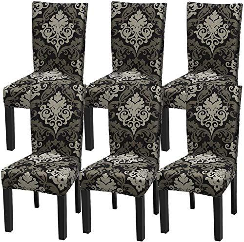 YISUN Universal Stretch Stuhlhussen 4er 6er Set Stuhlbezug für Stuhl Esszimmer (6er Set, ARoyal)