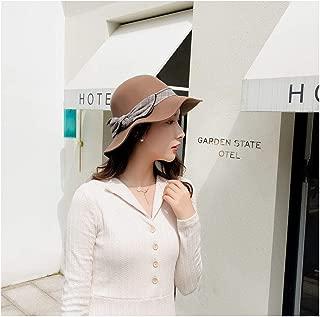 QinMei Zhou 2018 Female Hat Big Wave Brim Wool Felt Fedoras Autumn Winter Hats for Women