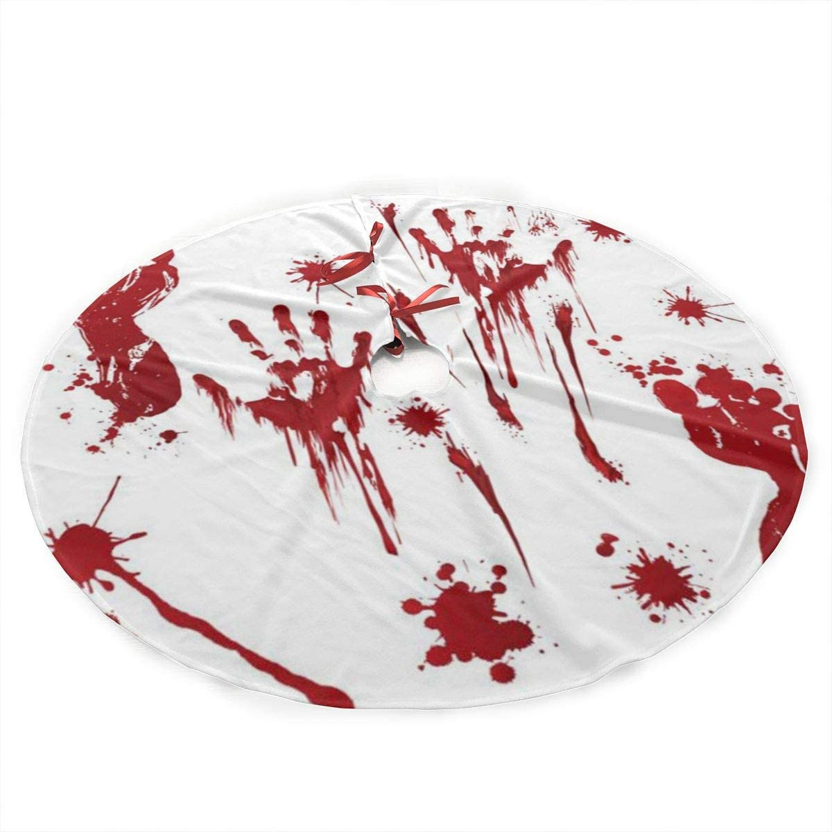 Happy-Life 36 Inch Christmas Tree Blood Halloween Max 66% OFF Footprin Skirt Credence