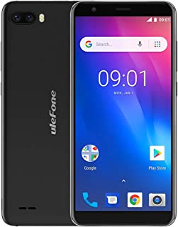 LIJINGFANG Dual Back Cameras, Face Identification, 5.5 inch Android GO 8.1 MTK6580 Quad-core 64-bit up to 1.3GHz, Network: 3G, Dual SIM (Color : Black)