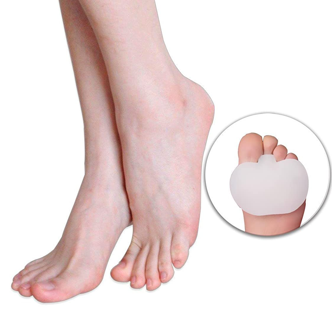 祖先まっすぐスズメバチフットマッサージ 前足パット足のケア、ゲルソックス、つま先、シリコン、外反母趾矯正、ゲル中足骨パッド、足クッションのボール、前足のケア、痛みの足の痛み、外反、外反母趾