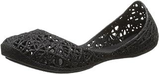 حذاء باليه مسطح متعرج من Mini Melissa Mel Campana (للأطفال الصغار)