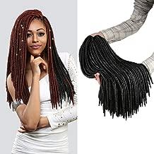 Authentic Synthetic Hair Crochet Braids 2X Faux Dread Locs 18