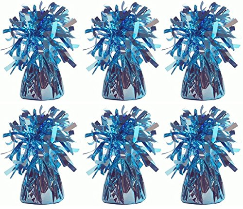 MEGA VALUE 6 x Baby Blue Foil Helium Balloon Weights Ideal Party Decoration Accessory by My Planet