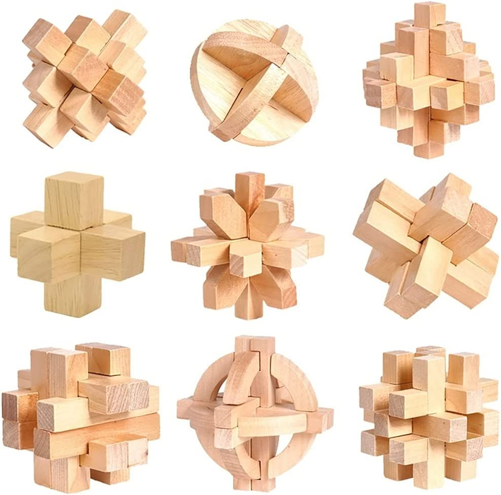yxx shop Kongming Lock 3D Wooden Max 87% OFF Stress Brain Toy T Relief Luban