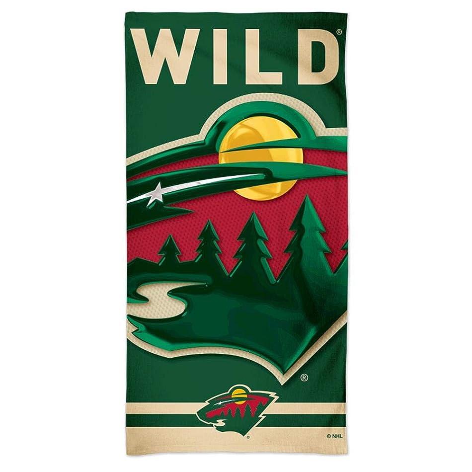 自伝思慮のない希少性Minnesota Wild Spectraビーチタオル