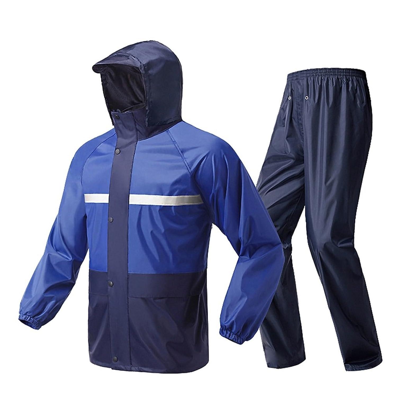 ポンチョ- レインコート(レインジャケットとレインパンツセット)大人用防水レインコート (サイズ さいず : S s)