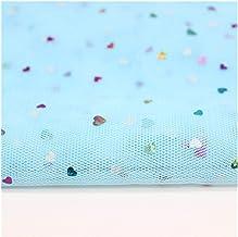 DIY ambacht, 150 cm Breedte 1 Meter/Lot Glitter Hart Pailletten Tule Rolls Bruiloft Decoratie Stof DIY Craft Birthday Part...
