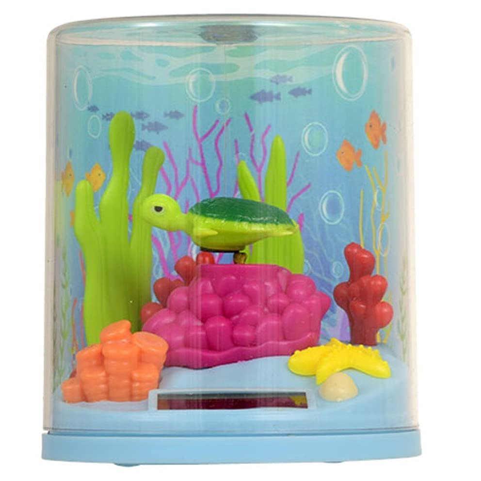 Plastic Solar-Powered Swimming Shark or Turtle Terrarium [1 pc, Chosen at Random]