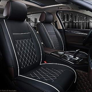 Houshome 1 pcs Almofada de assento de carro universal de luxo em couro PU Almofada de suporte para carros Acessórios para ...