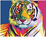 Tiger Diy Pintura Por Números Animales Caligrafía Pintura Moderna Arte de la pared Lienzo Para Decoración En Casa Arte Sin Marco 40x50cm