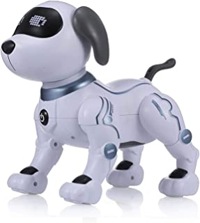 Fesjoy LE NENG TOYS K16A Electronic Pets Robot Dog Stunt Dog Voice Command Programmable Touch-sense Music Song Toy for Kid...
