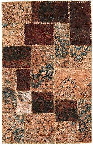 Nain Trading Patchwork 187x117 Orientteppich Teppich Braun Handgeknüpft Türkei Design Teppich Modern