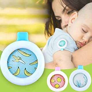 Fucung 10Pcs/Set Plant Essential Oil Anti Mosquito Buckle for Baby Pregnant, Summer Mosquito Repellent Reject Button for Baby Kids Protection Care