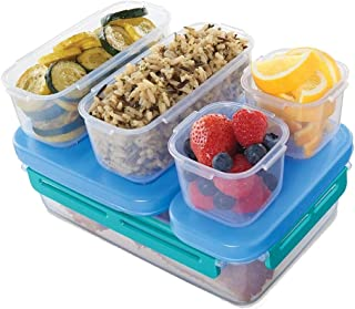 Rubbermaid LunchBlox Leak-Proof Entree Lunch Container Kit, Large, Blue 2000665