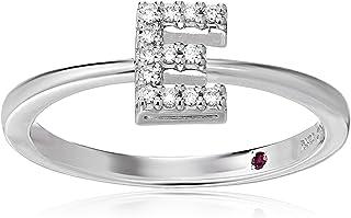 Roberto Coin Women's 001634AWLRXE Diamond Initial Ring, White, Size 7