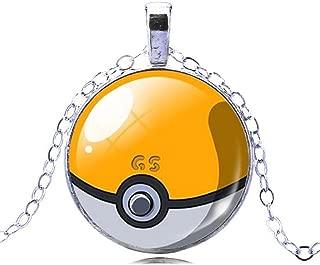 Pokemon Ball Fashion Pendant Necklace Chain Jewelry Master Ball Pikachu