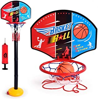 Kids Toddler Baby Children Outdoor Indoor Sports  Mini Portable Adjustable Basketball Hoop Toy Set-FER002681