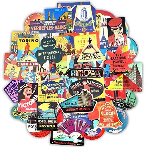 greestick Stickerbomb - Lote de 55 pegatinas para viajes, camping y viajes