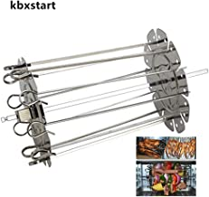 kbxstart Roaster Rotisserie Skewers Needle Cage,10.8inch Long BBQ Needle for Oven Kebab Maker Grill Air Fryer Accessories with 10 Skewers Included Ideal for Meat, Fish and Vegetables