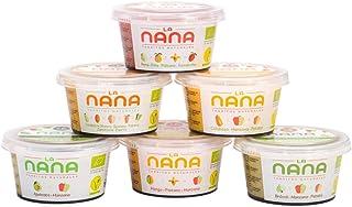 LANANA- Pack de 6 tarritos ecológicos para bebes de fruta y