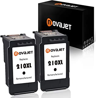 Novajet Remanufactured Ink Cartridge Replacement for Canon PG-210XL PG 210XL for PIXMA IP2700 IP2702 MP230 MP240 MP250 MP270 MP280 MP480 MP490 MP495 MP499 MX320 MX330 MX340 MX350 (2 Black)