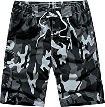Seaintheson Men's Casual Shorts,Summer Camo Printing Beach Surfing Swim Loose Short Pants with Pockets