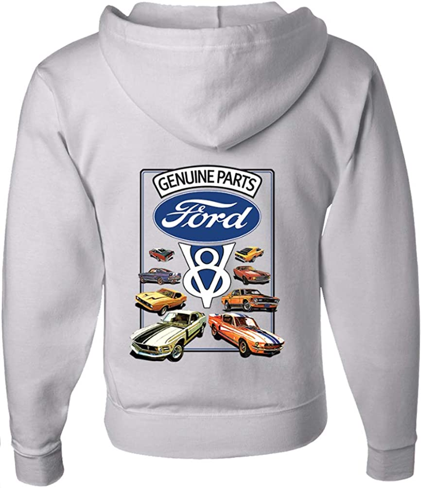 Overseas parallel import regular item Chicago Mall Ford Mustang Full Zip Hoodie V8 and Collection Back Front
