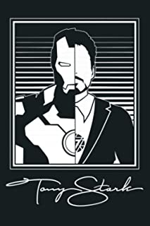 Marvel Iron Man Tony Stark Split Image Premium: Notebook Planner -6x9 inch Daily Planner Journal, To Do List Notebook, Dai...