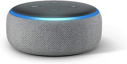 Echo Dot (3. Gen.), Zertifiziert und generalüberholt, Intelligenter Lautsprecher mit Alexa, Hellgrau Stoff