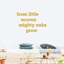 Peel and Stick Removable Wall Stickers from Little Acorns Mighty Oaks Grow for Study Room School Classroom Practice Room Boys Room