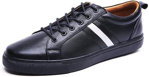 Hommes Appartement Loisir Chaussures en cuir Formateurs Antidérapant Confortable EUR TAILLE 38-44