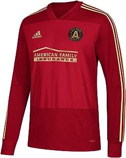 adidas Atlanta United FC MLS Men's Red Climacool Long Sleeve Team Color Training Jersey