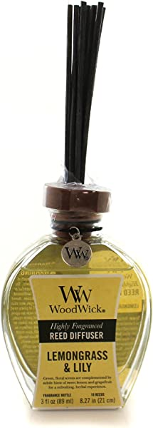 柠檬草莉莉伍德威克 3 盎司芦苇扩散器