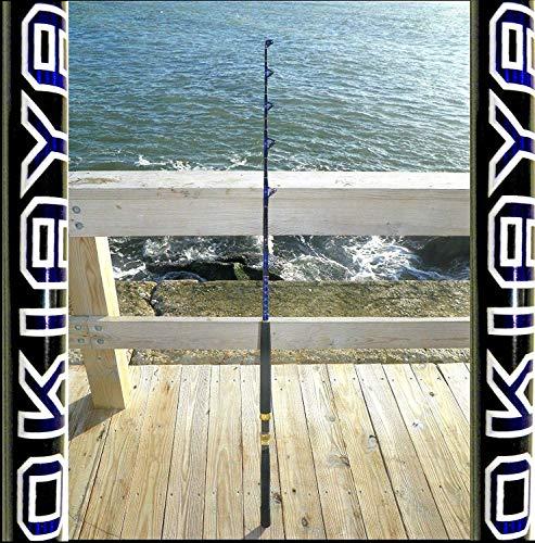 OKIAYA COMPOSIT 30-50LB Blueline Series Saltwater Big Game Roller Rod 6FT