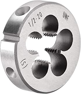 uxcell 1/2 inches-20 UNF Right Hand Round Die Machine Thread Die, Threading Die, Screw Die Tool, HSS High Speed Steel