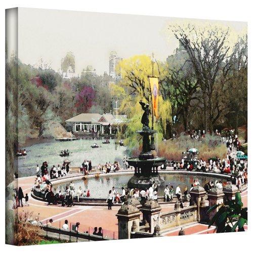 Art Wandbild Bethesda Brunnen Gallery Wrapped Leinwand Art von Linda Parker, 18von 24